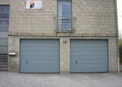 porte de garage sectionnelle gris 11