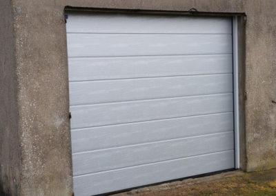 porte de garage sectionnelle gris 2