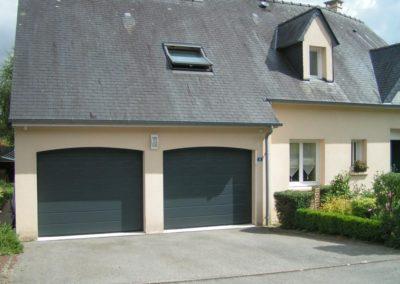 porte de garage sectionnelle gris 5