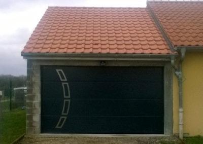 porte de garage sectionnelle gris 6