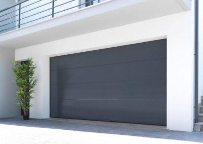 porte de garage sectionnelle gris 9