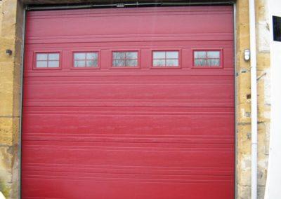 porte de garage sectionnelle rouge 4