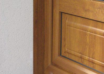 porte fenêtre PVC décor chêne doré 2