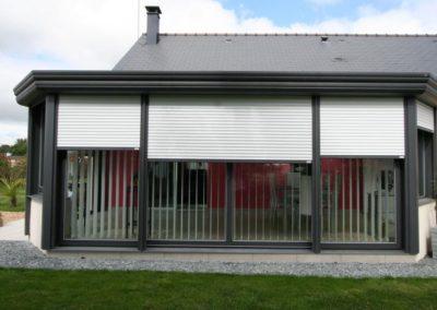 quatuor veranda aluminium anthracite volets roulants 1
