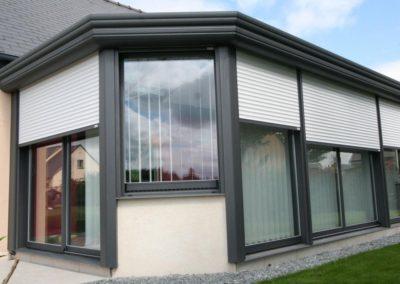 quatuor veranda aluminium anthracite volets roulants 3