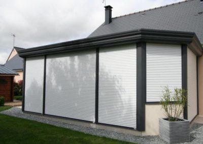 quatuor veranda aluminium anthracite volets roulants 4