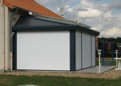 veranda aluminium volets roulants fermes