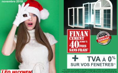TVA offerte pour vos fenêtres… c'est Noël avant l'heure !